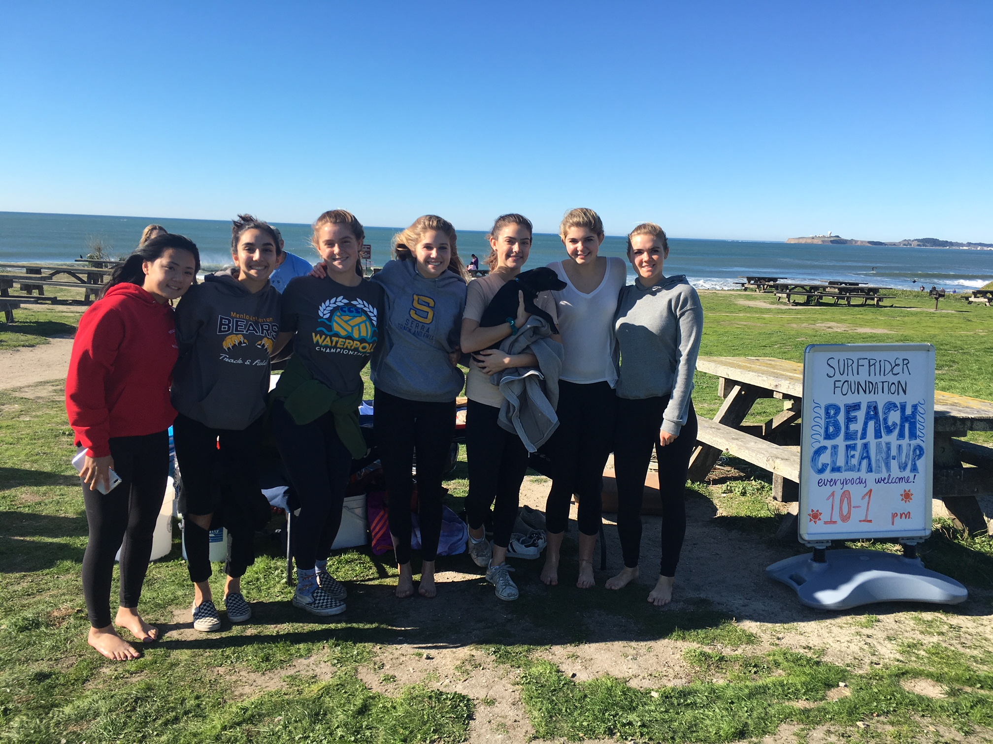 A Big Thank You to all the beach clean-up volunteers at Francis Beach on Dec. 10th!